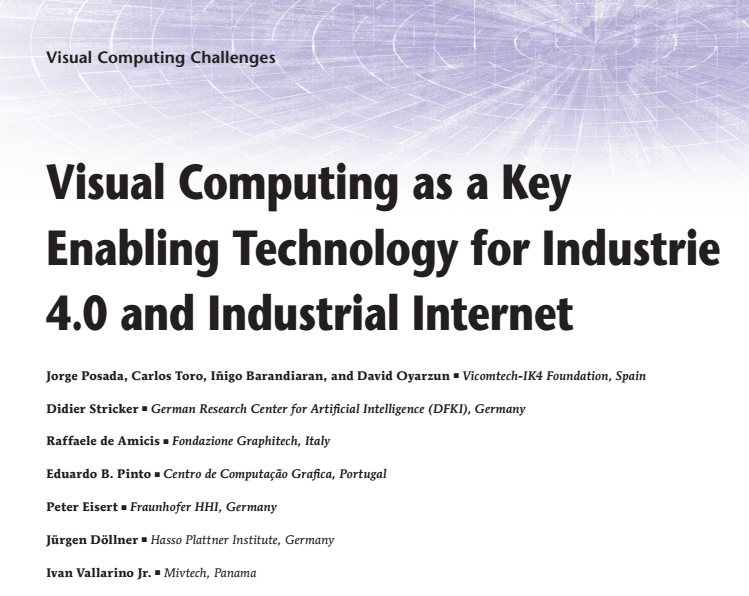 Visual Computing as a Key Enabling Technology for Industrie 4.0 and Industrial Internet