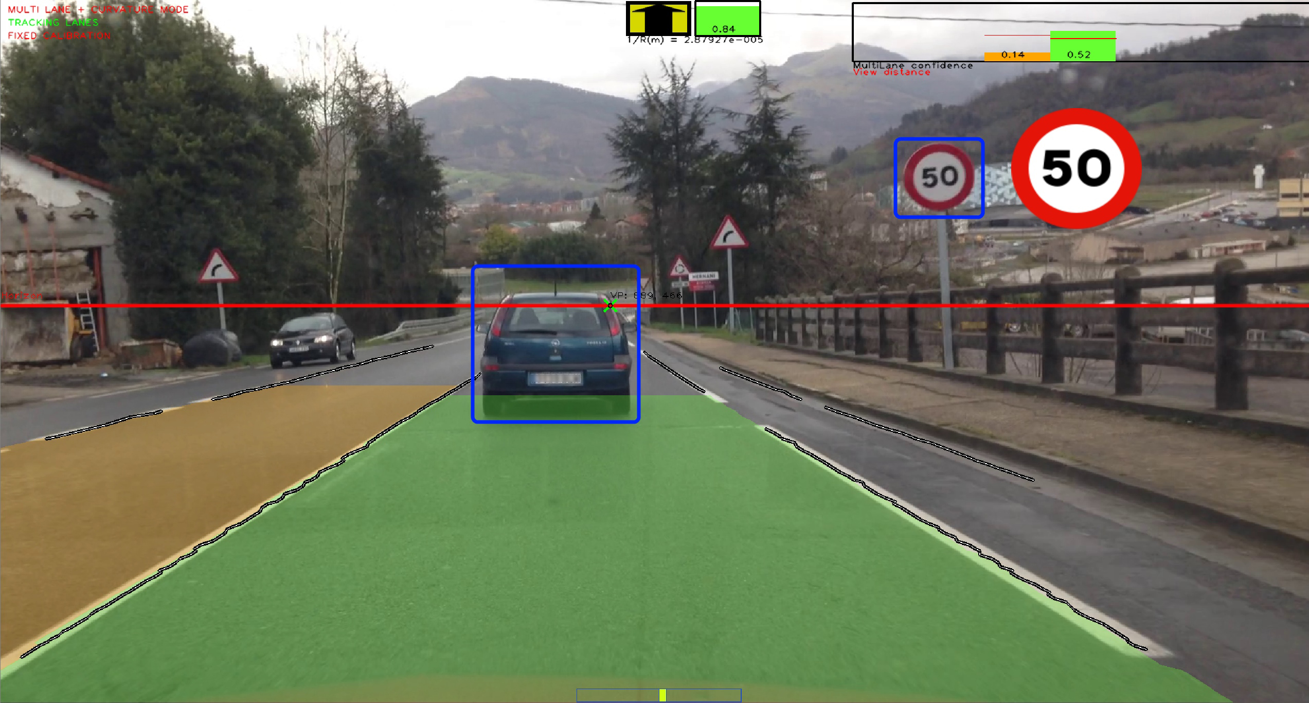 Satellite Navigation and Computer Vision technologies to guide drivers at lane level