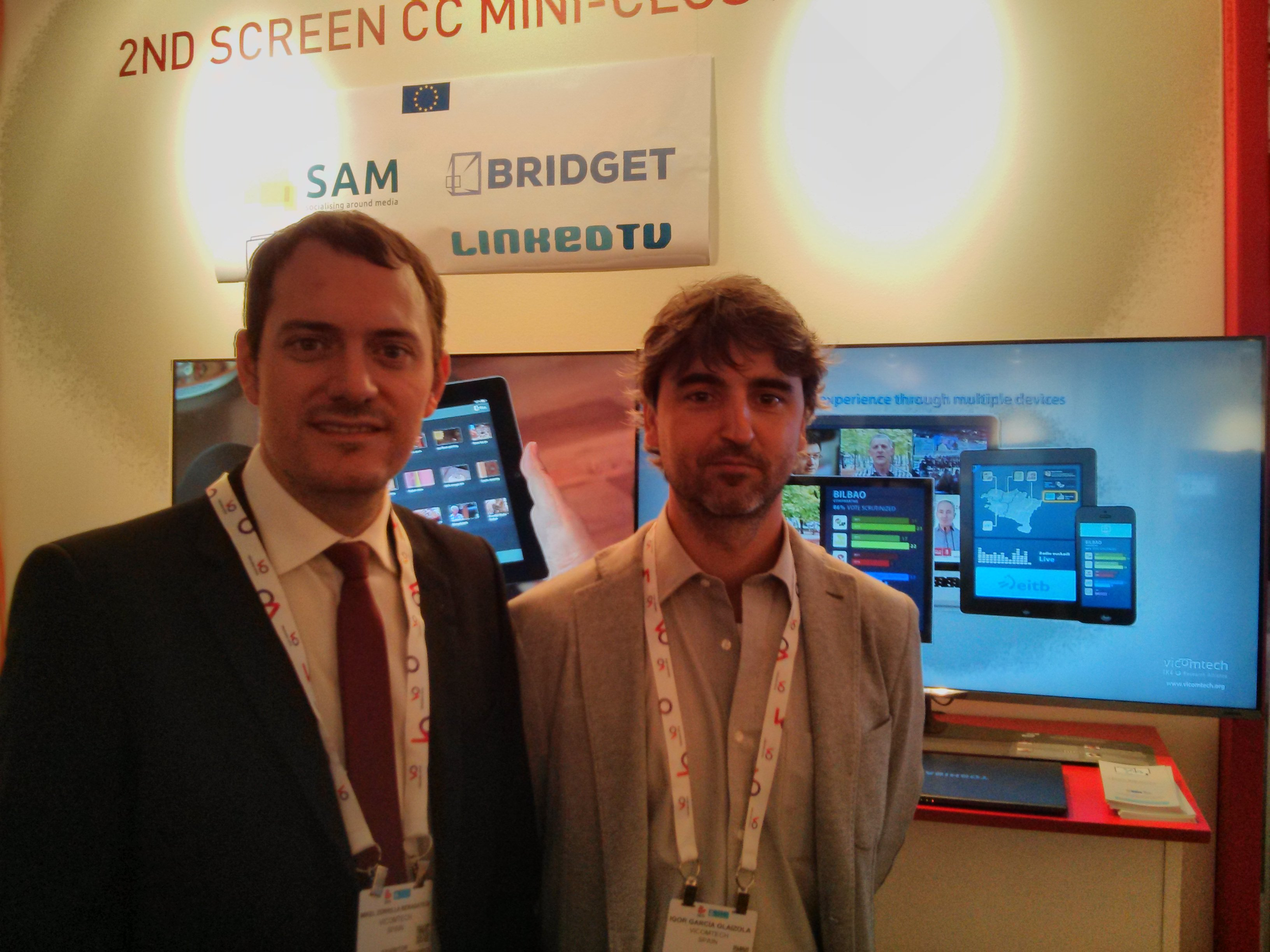 Vicomtech-IK4 presents multi-screen systems for multimedia content in IBC 2015 in Amsterdam from 11th  to 15th of September